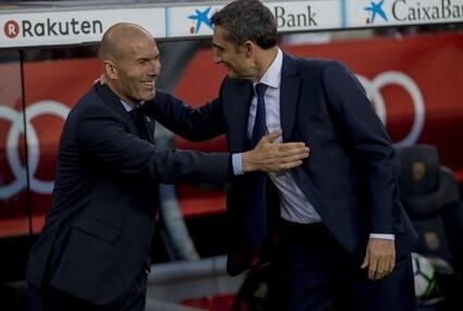 Zinedine Zidane i Ernesto Valverde