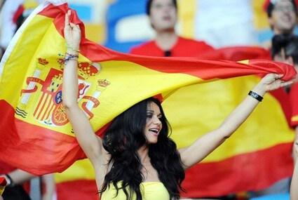 Fanka reprezentacji Hiszpanii