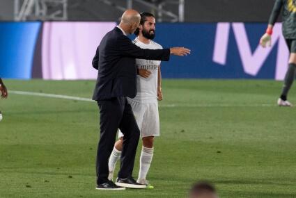 Isco i trener Zidane