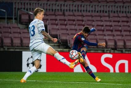 Trincao w meczu Ligi Mistrzów