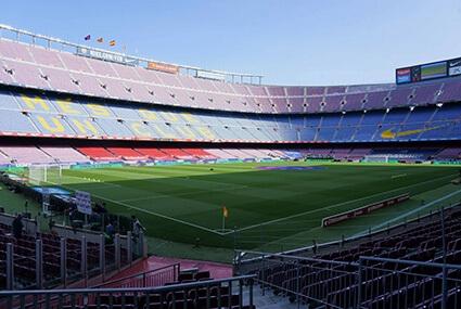 Puste Camp Nou przed El Clasico