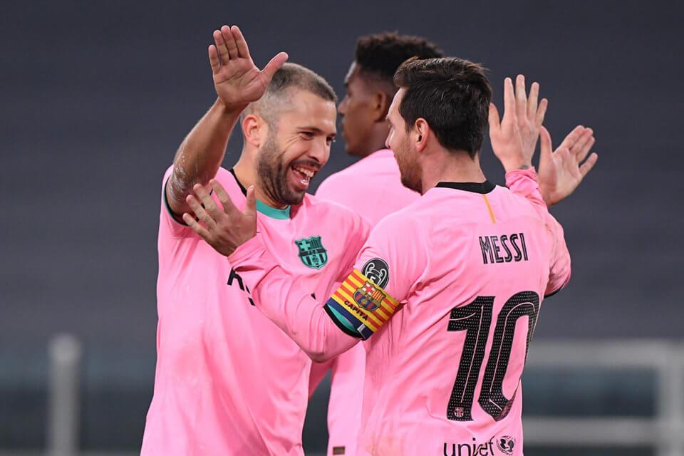 Jordi Alba i Lionel Messi