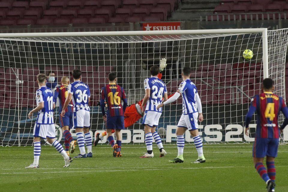 Barcelona w meczu z Realem Sociedad