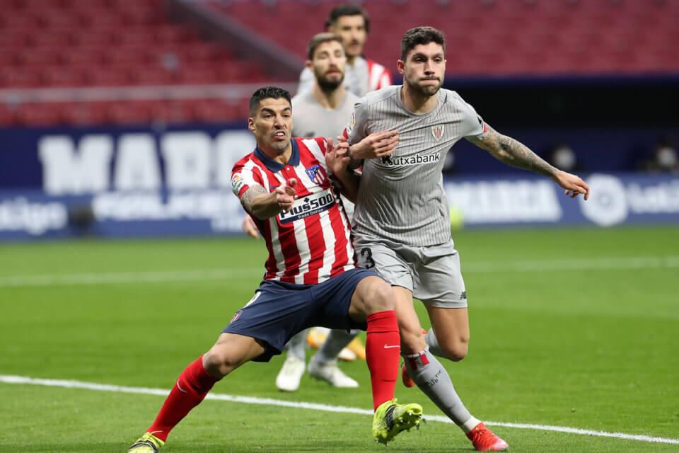 Luis Suarez w meczu z Athletikiem