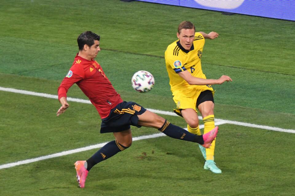 Alvaro Morata w meczu ze Szwejcą